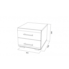 Тумба прикроватная МС-1, венге/жемчуг