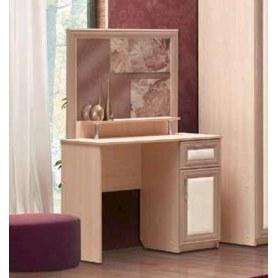 Косметический стол Камелия, шимо светлый/белый кожзам