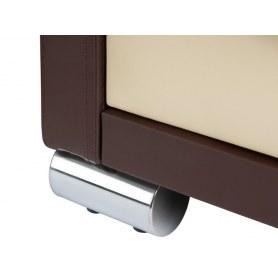 Туалетный столик OrmaSoft 2, 4 ящика, левый, экокожа коричневая/белая