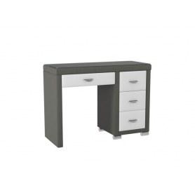 Туалетный столик OrmaSoft 2, 4 ящика, правый, экокожа серая/белая