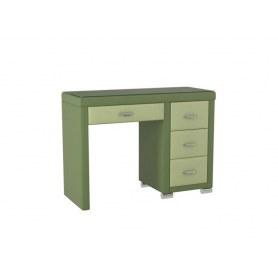 Туалетный столик OrmaSoft 2, 4 ящика, правый, экокожа олива/зеленое яблоко