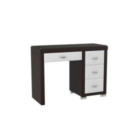 Туалетный столик OrmaSoft 2, 4 ящика, правый, экокожа коричневая/белая