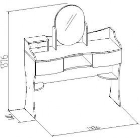 Стол туалетный Амели 15, Венге