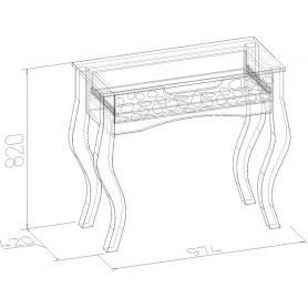 Стол туалетный Wyspaa 32, Дуб Сонома