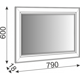 Зеркало Саванна М07