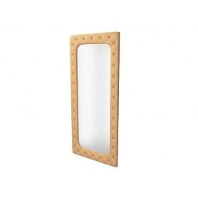 Зеркало настенное Flavio Big, экокожа латунный перламутр