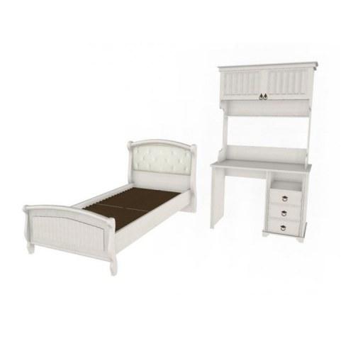 Детский подростковый гарнитур Амели тумбочка, кровать стол, стеллаж