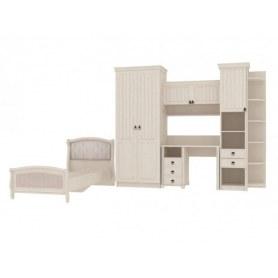 Детский подростковый гарнитур Амели шкаф, стеллаж, кровать, стол