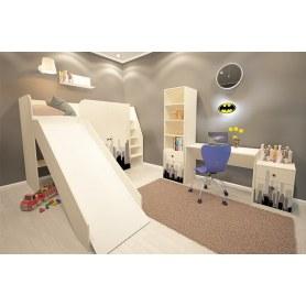 Детский гарнитур Бэтмен кровать-горка, стол, комод, шкаф