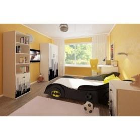 Детский гарнитур Бэтмен стол, 2 шкафа, тумба, кровать