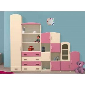 Детский гарнитур Тедди, бежевый/розовый