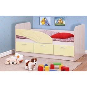 Детская кровать Дельфин 1800 06.223, Дуб Линдберг/Кремовый металлик