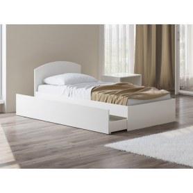 Детская кровать Этюд Плюс, 90х195, белая