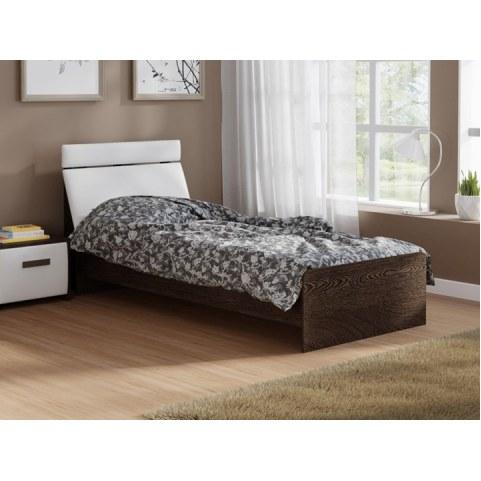 Детская кровать Домино 2, 90х200, ЛДСП венге, экокожа белая