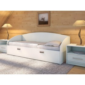 Детская кровать Этюд Софа, 90х190, белая