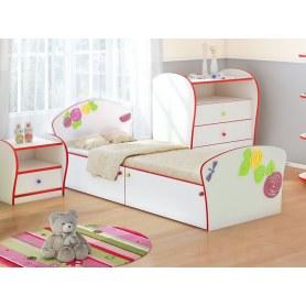 Детская кровать Соната Kids Плюс, 90х200, фасад Розы