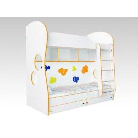 Кровать двухъярусная Соната Kids, 80х200, фасад буквы