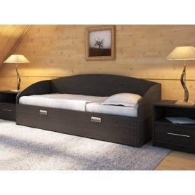 Детская кровать Этюд Софа, 90х200, венге