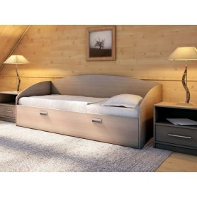Детская кровать Этюд Софа, 90х200, ясень шимо темный