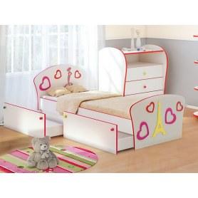 Детская кровать Соната Kids Плюс, 90х190, фасад Fashion