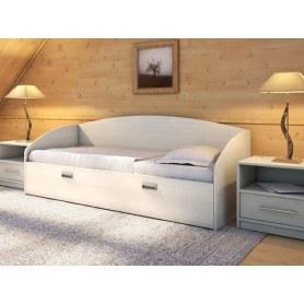 Детская кровать Этюд Софа, 90х200, ясень шимо светлый
