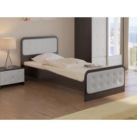 Детская кровать Неро, 90х200, ЛДСП венге/экокожа белая