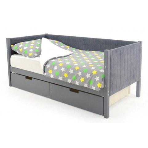 Детская кровать-тахта мягкая Skogen графит