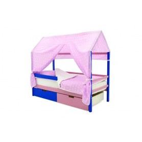 Детская кровать-домик Svogen синий-лаванда