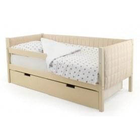 Детская кровать-тахта мягкая Skogen бежевая