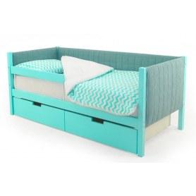 Детская кровать-тахта мягкая Skogen мятная