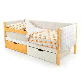 Детская кровать-тахта мягкая Skogen белый-дерево