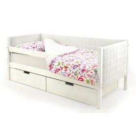 Детская кровать-тахта мягкая Skogen белая
