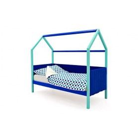Детская кровать-домик Svogen, мятный-синий мягкая