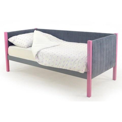 Детская кровать-тахта мягкая Skogen лаванда-графит