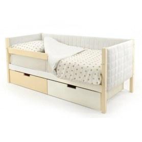 Детская кровать-тахта мягкая Skogen бежево-белый