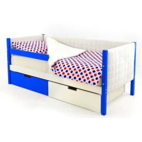 Детская кровать-тахта мягкая Skogen сине-белая