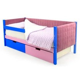 Детская кровать-тахта мягкая Skogen синий-лаванда