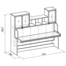 Кровать-Трансформер Калейдоскоп 1 + Фасад Радуга зеленая U2701