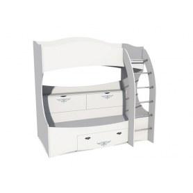 Детская кровать двухъярусная НМ 011.74, Прованс