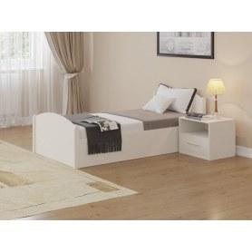 Кровать с подъемным механизмом Аккорд, 90х200, белая