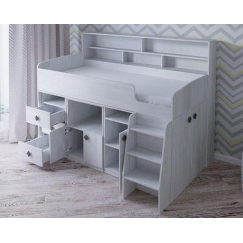 Детская кровать-чердак  Малыш-5, цвет Винтерберг