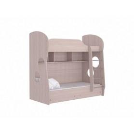 Кровать двухъярусная Соната Junior, 80х200, фасад ЛДСП шимо светлый