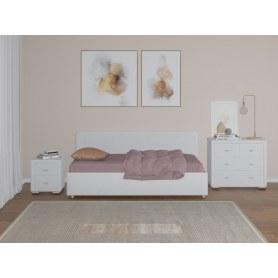Детская кровать с подъемным механизмом Siesta, 90х200, экокожа белая