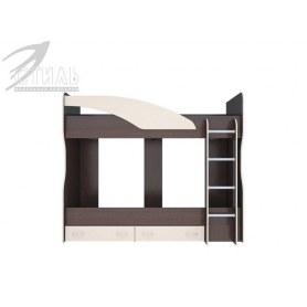 Детская двухъярусная кровать Мийа, цвет Венге/Дуб молочный
