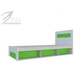 Детская кровать с подъемным механизмом Палермо-Юниор, зеленые вставки