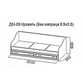 Детская кровать Вега, ДМ-09 (0,9*2)
