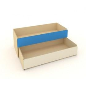 Детская кровать 2-х уровневая КД-2, Беж + Синий