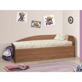Кровать-софа с ящиками, шимо темный