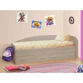 Кровать-софа с ящиками, шимо светлый