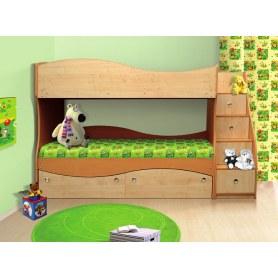 Кровать двухъярусная Мечта, цвет ольха/клен